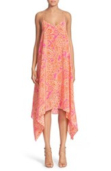 Women's Trina Turk 'Alverta' Paisley Print Silk Midi Dress