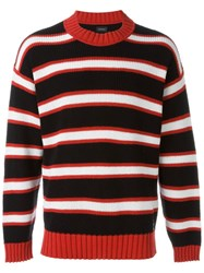Diesel Striped Jumper Black