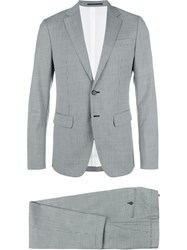 Dsquared2 Manchester Checked Suit Grey