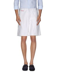 Prada Luna Rossa Trousers Bermuda Shorts Men White