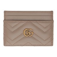 Gucci Taupe Gg Marmont 2.0 Card Holder