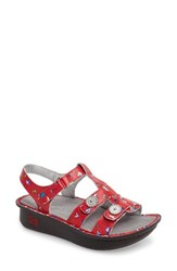 Alegria Women's 'Kleo' Sandal Red Buds Leather