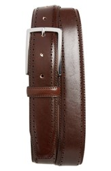 Nordstrom Big And Tall Shop Lowell Leather Belt Brown