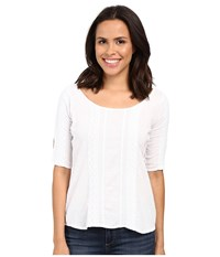 Scully Kalinda Peekaboo Sleeve Blouse White Women's Blouse