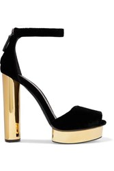 Tom Ford Velvet Platform Pumps Black