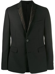 Fendi Reversible Ff Blazer Black