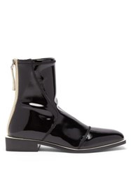 Fendi Fframe Patent Ankle Boots Black