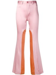 Each X Other Colour Block Tailored Trousers Pink
