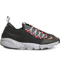 Nike Air Footscape Low Top Mesh Trainers Black Wolf Grey Nm