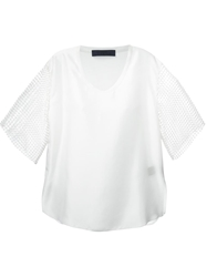Sharon Wauchob Mesh Sleeve Blouse White