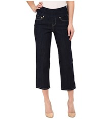 Jag Jeans Echo Crop In Comfort Denim Dark Shadow Wash Indigo Women's Capri Blue