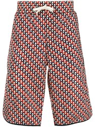 Gucci Abstract Print Swim Shorts Red