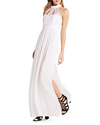 Bcbgeneration Cutout Lace Bodice Gown Pink Dove