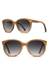 Shwood Women's 'Madison' 54Mm Round Wood Sunglasses