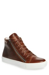 Kenneth Cole Reaction Men's 'Good Vibe' High Top Sneaker Cognac Leather