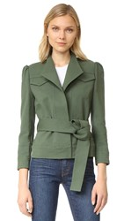 Derek Lam Belted Slim Jacket Army Green