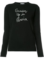 Bella Freud Growing Up In America Jumper Black