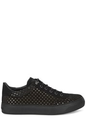 Jimmy Choo Ace Black Star Cutout Nubuck Trainers