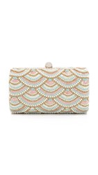 Santi Scallop Embroidered Clutch Pink