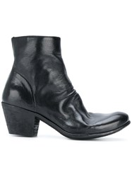 Officine Creative Ankle Boots Calf Leather Leather Black
