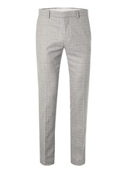 Topman Grey Check Skinny Fit Suit Trousers