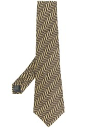 Jean Paul Gaultier Vintage Geometric Print Tie Nude And Neutrals
