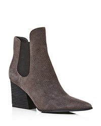 Kendall And Kylie Finley Suede Ankle Boots Gray