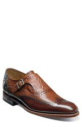 Stacy Adams Men's Madison Ii Monk Strap Shoe Cognac W Honey Brush Off