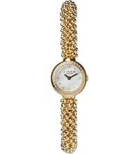 Links Of London Effervescence Star Yellow Gold And Sapphire Watch