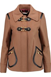 Marc By Marc Jacobs Francoise Wool Blend Felt Coat Brown
