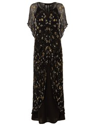 e515392ec9 Phase Eight Collection 8 Carlotta Embroidered Dress Black Gold