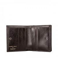 Maxwell Scott Bags Brown Leather Wallet For Men With Coins