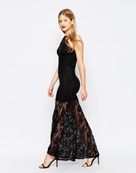 Honor Gold Lace Maxi Dress Black
