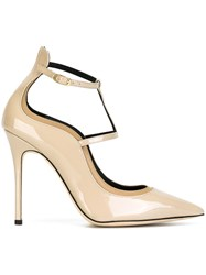 Giuseppe Zanotti Design Pointed Strappy Pumps Nude And Neutrals