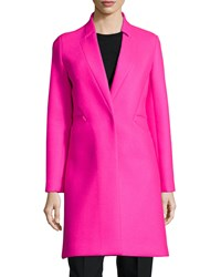 Milly Melton Bonded Slim Coat Pink