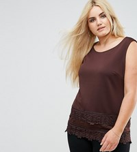 Lovedrobe Top With Crochet Trim Red