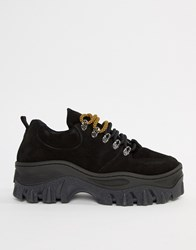 Bronx Black Suede Chunky Sole Trainers