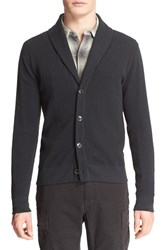 Men's Polo Ralph Lauren Cotton Shawl Collar Cardigan Polo Black