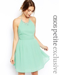 Asos Petite Prom Dress With Necklace Detail Mint