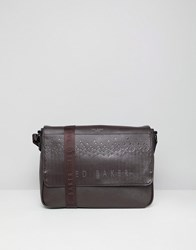 Ted Baker Wowee Embossed Messenger Bag Black