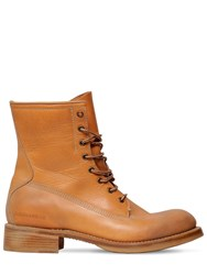 Dsquared Leather Work Boots Camel