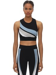 No Ka' Oi Game Lani Stretch Techno Bra Top Black