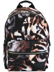 Paul Smith Ps By Tiger Stripe Print Backpack Multicolour