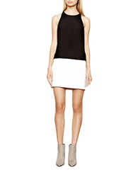 Autograph Addison Colorblock Shift Dress Black White