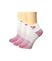 Drymax Sport Thin Run Mini Crew 3 Pair Pack October Pink White Crew Cut Socks Shoes