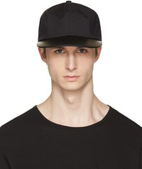 Attachment Black Leather Brim Cap