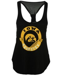 Colosseum Women's Iowa Hawkeyes Halo Twist Tank Black