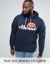 Ellesse Plus Hoodie With Classic Logo Navy