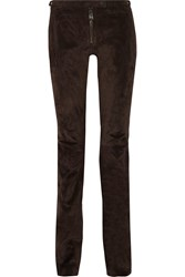 Belstaff Mayfield Suede Skinny Pants Brown