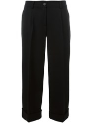 P.A.R.O.S.H. 'Lily' Cropped Trousers Black